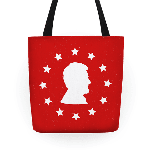 484x484 Abraham Lincoln Silhouette Tote Bag Merica Made