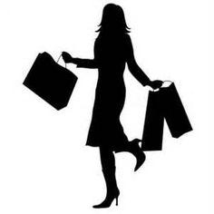 236x236 Silhouette Woman Purple Shopping Bag Clipart Walking Png