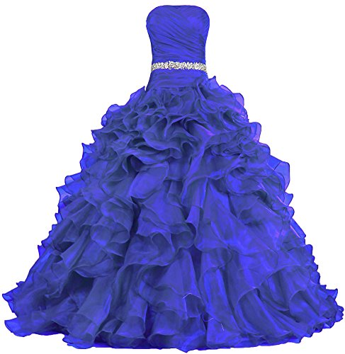 487x500 Ants Women's Pretty Ball Gown Quinceanera Dress Ruffle Prom