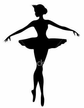 294x380 Bailarina Batizado T Silhouette, Ballerina
