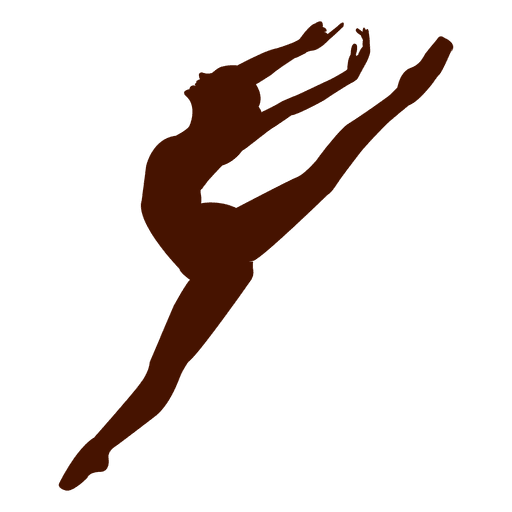 512x512 Ballet Dancer Pose Jumping Silhouette