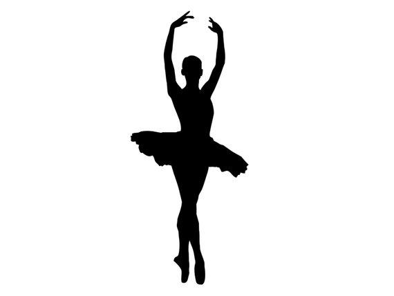 570x428 Tall Dancing Ballerina Silhouette Ballet Dancer Vinyl
