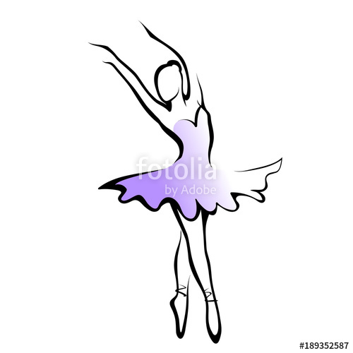 500x500 Silhouette Ballet Dancer Stock Image And Royalty Free Vector