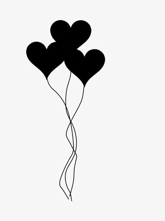 564x752 Love Balloon, Creative Balloons, Black Balloon, Silhouette Balloon