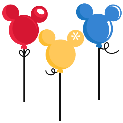 432x432 Mouse Balloons Svg Cut Files For Scrapbooking Silhouette Cut Files