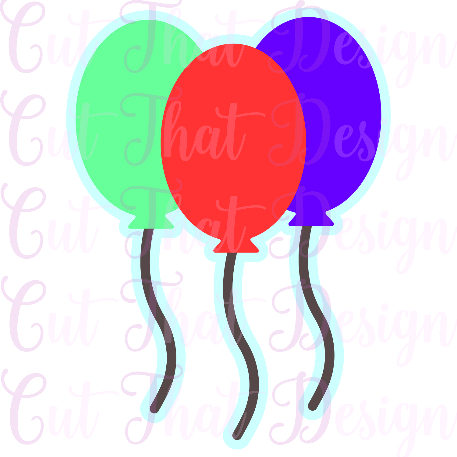 1500x1500 Draw Balloons For A Birthday Card In Silhouette Studio Cut That