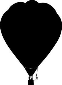 216x297 Silhouette Hot Air Balloon. Whimsical Touches Maybe Something