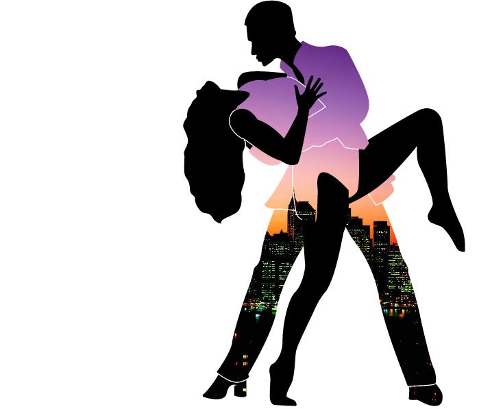 734x597 Salsa Dancing Clipart