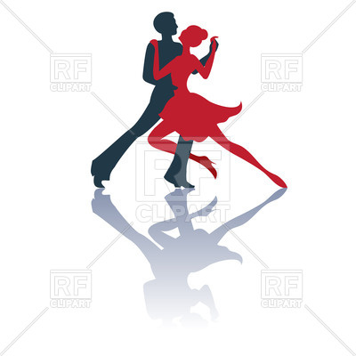 400x400 Silhouette Of Dancing Couple Royalty Free Vector Clip Art Image