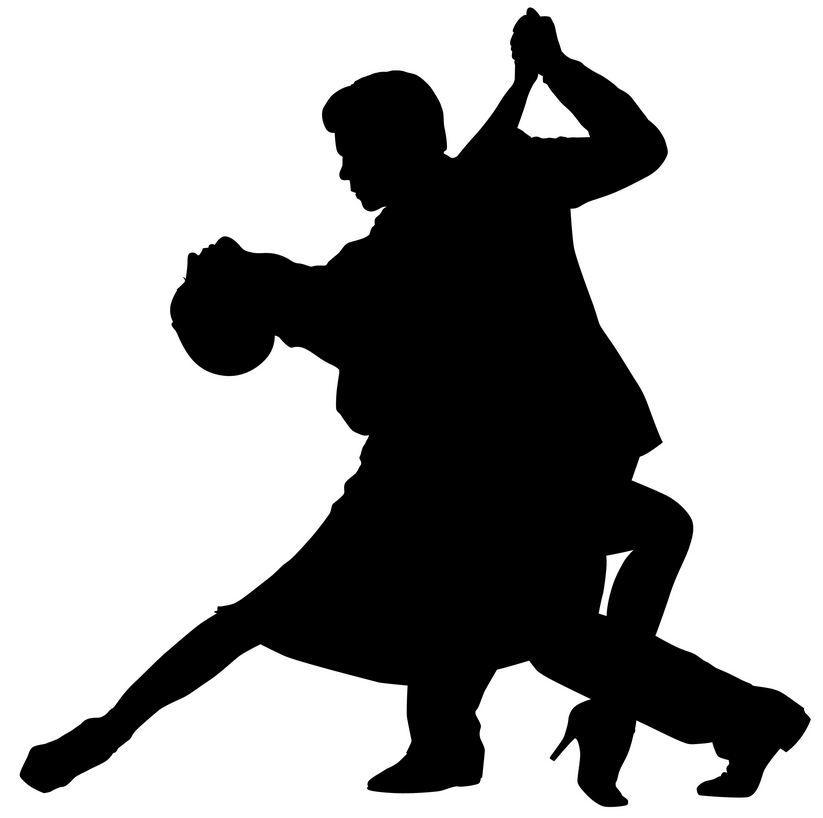 823x818 Ballroom Dancer Silhouette