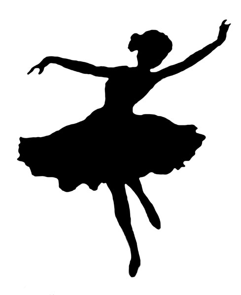 489x600 Ballroom Dancing And Dancers Silhouette
