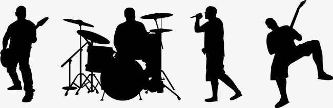 650x212 Band Silhouette, Band, Sketch, Black Png And Vector For Free Download