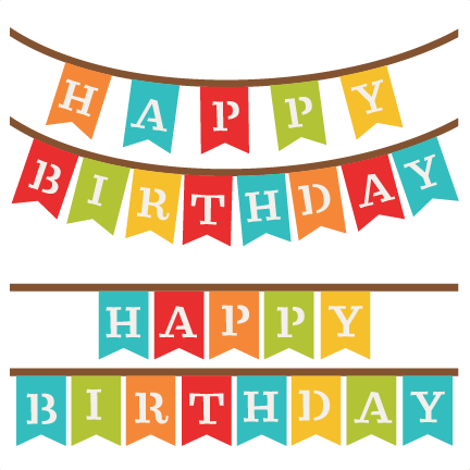 432x432 Happy Birthday Banners Svg Scrapbook Cut File Cute Clipart Files