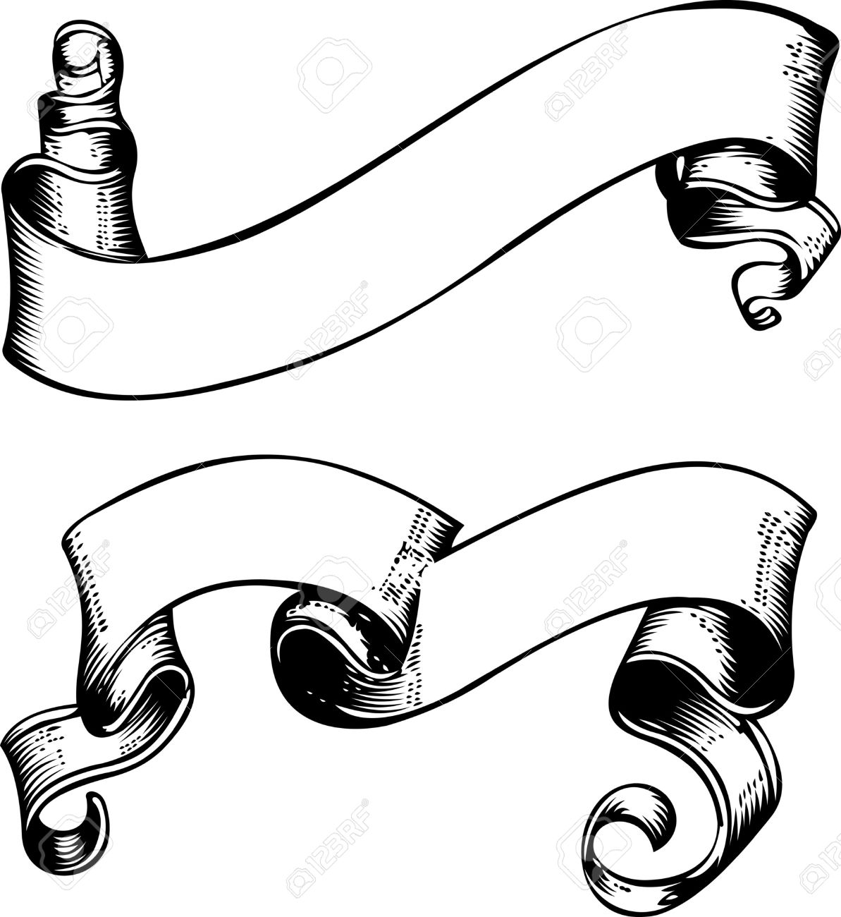 1193x1300 8878199 Two One Color Old Grunge Engraved Banners Stock Vector