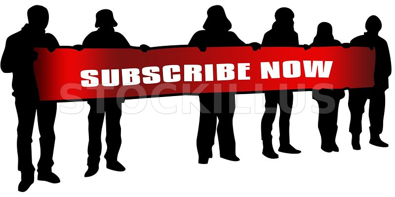 800x400 Stockillus Subscribe Now On Red Banner Held By People