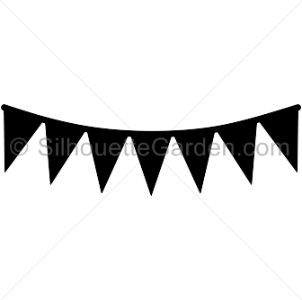 336x334 Pennant Banner Silhouette Clip Art. Download Free Versions