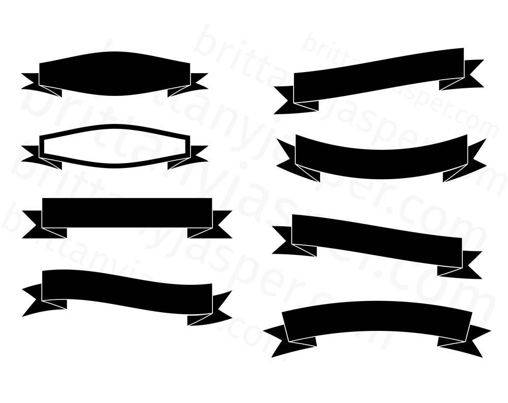 1000x794 Banners Svg Vector Clip Art Bundle