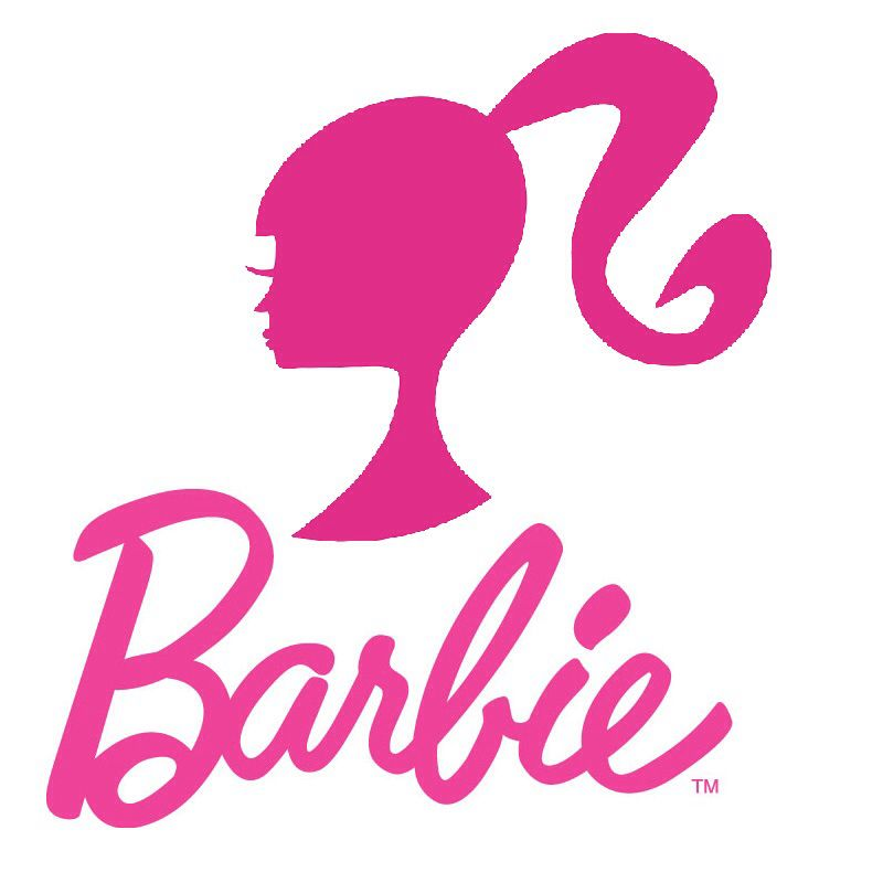 800x800 Barbie Logo With Silhouette In Hot Pink (Mattel) Barbara