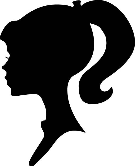 570x703 Gallery Barbie Silhouette Png,