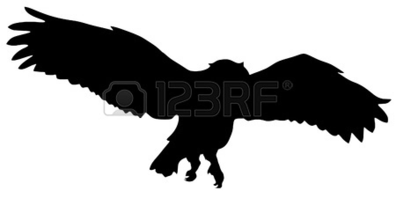 1350x675 Flying Owl Silhouette Clipart Panda