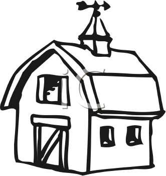 Silhouette Barn At Getdrawings Com Free For Personal Use Rh Clipart Black And White