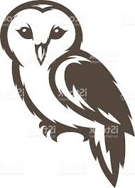 190x265 Barn Owl Silhouette