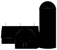190x169 Barn Silhouette Vector