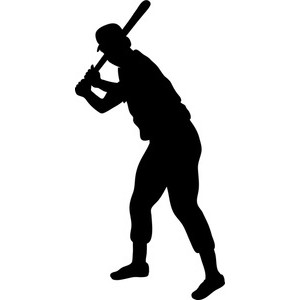 300x300 Baseball Player Silhouette Clipart Clipartfest