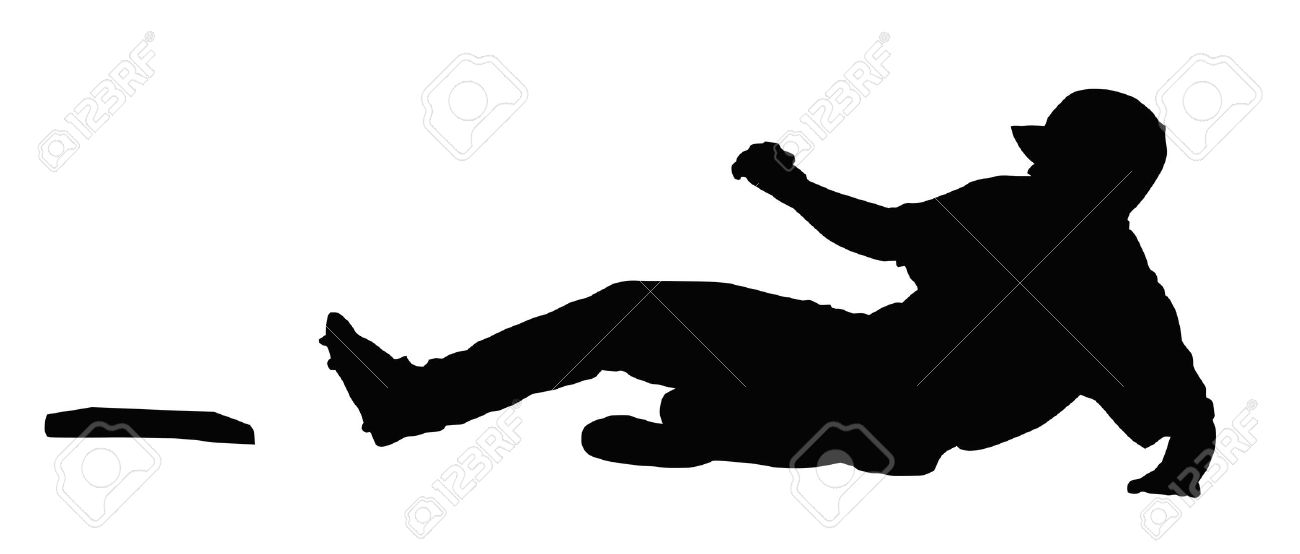 1300x554 Player Sliding Silhouette Clipart