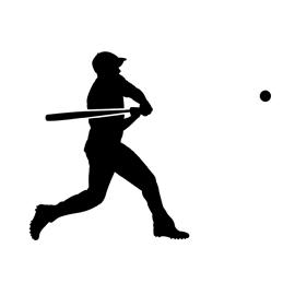 270x270 Baseball Player Silhouette 01 Stencil Free Stencil Gallery