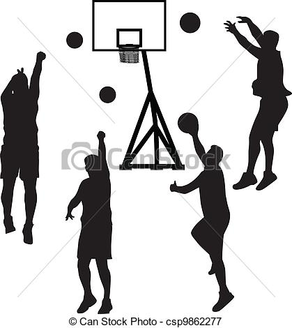 419x470 Basketball Player Silhouette Vector. Basketball Player