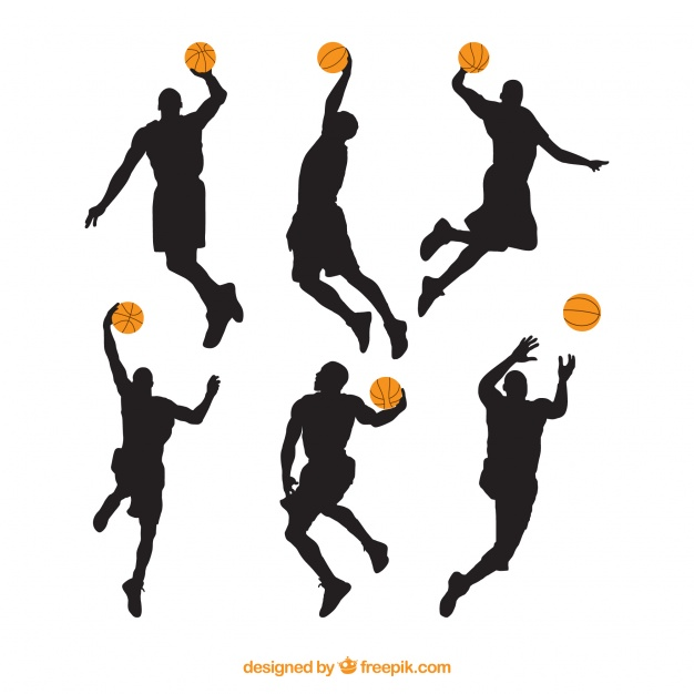 626x626 Different Silhouettes Of Basketball Players Vector Free Download