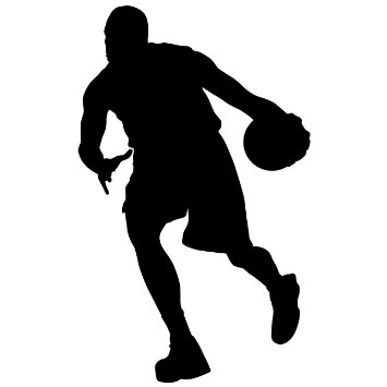 355x355 Free Basketball Silhouette, Hanslodge Clip Art Collection