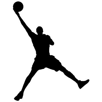 355x355 Silhouette Basketball Players Clipart