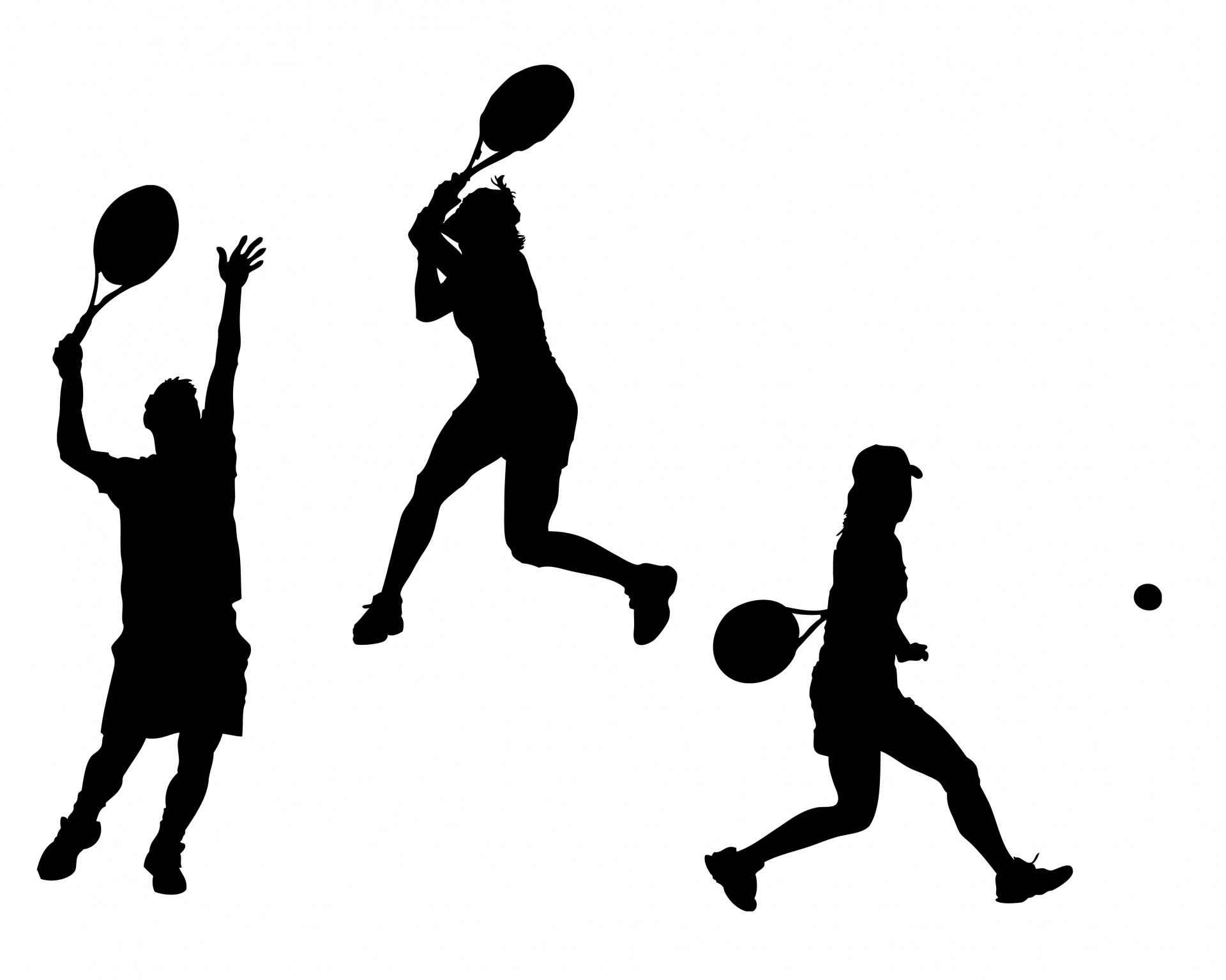 1920x1535 Tennis Players Silhouette Free Stock Photo