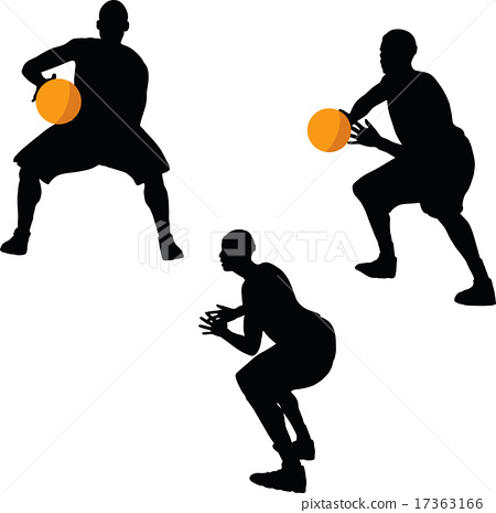 450x465 Basketball Player Silhouette In Hold Pose