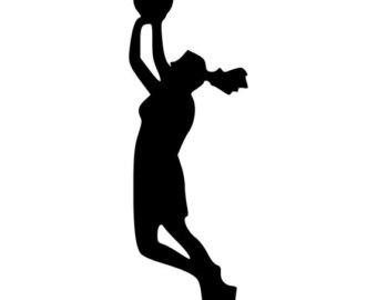 340x270 Basketball Jump Shot Clipart Player Silhouette Vector Clip Art