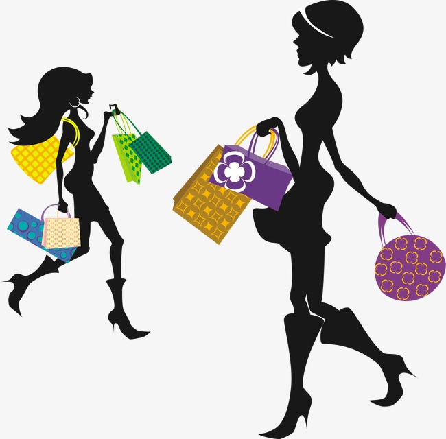 650x640 Silhouette Beauty Shopping, Beauty, Shopping, Sketch Png Image