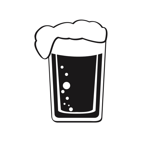 550x550 Glass With Beer Silhouette