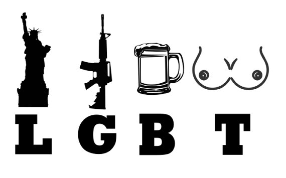 570x355 Liberty Guns Beer Tits Lgbt Svg File, Quote Cut File, Silhouette