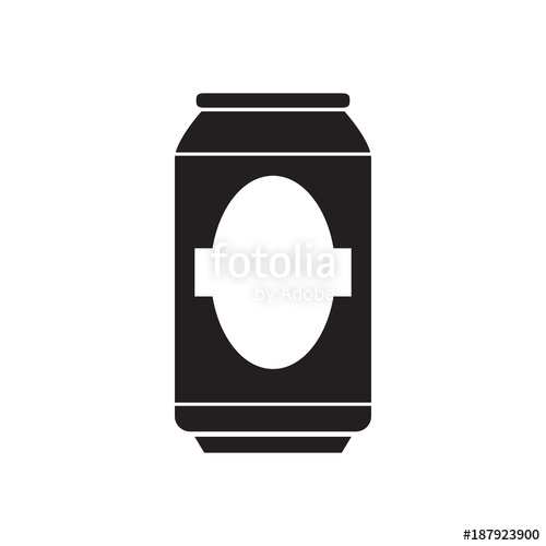 500x500 Silhouette Of A Beer Can Stock Image And Royalty Free Vector