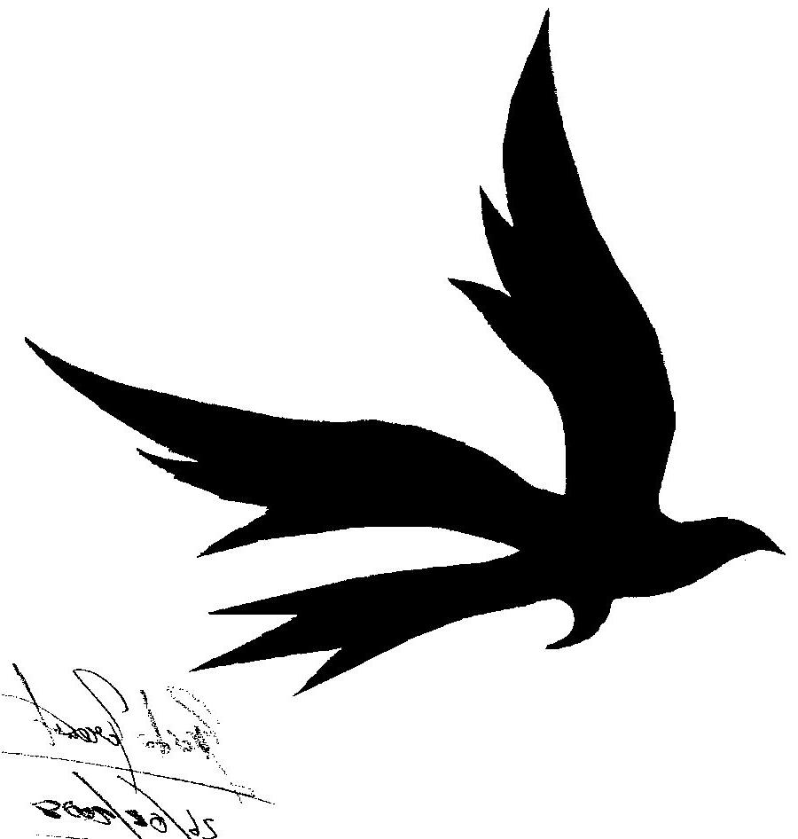 900x946 Tribal Bird Tattoo Designs Flying Bird Silhouette Tattoo