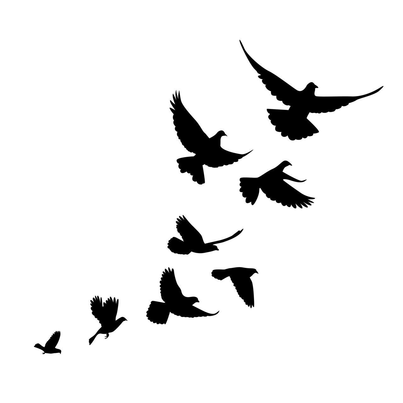 Silhouette Bird Tattoos At Getdrawings Free For Personal Use