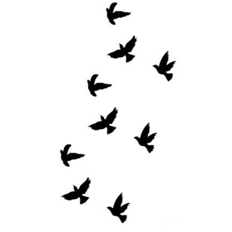 Silhouette Birds Tattoos