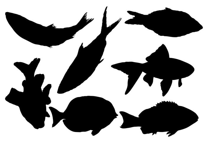 700x490 Free Fish Silhouette Vector