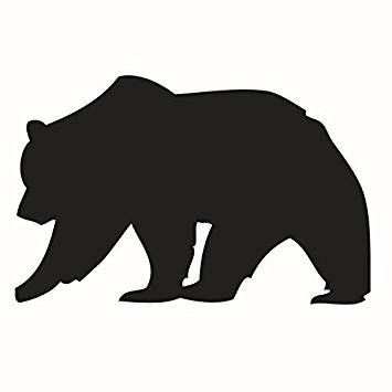 Silhouette Black Bear