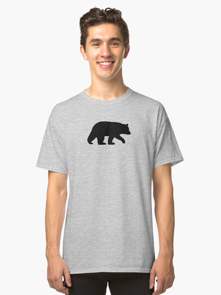 750x1000 Black Bear Silhouette Women's Fitted Scoop T Shirt By Shortcoffee