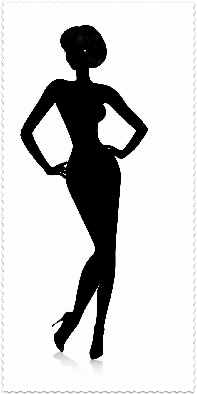 670x1344 Woman Clipart Black And White Silhouette