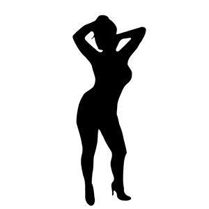 300x300 Woman Silhouette 46 Clipart, Cliparts Of Woman Silhouette 46 Free