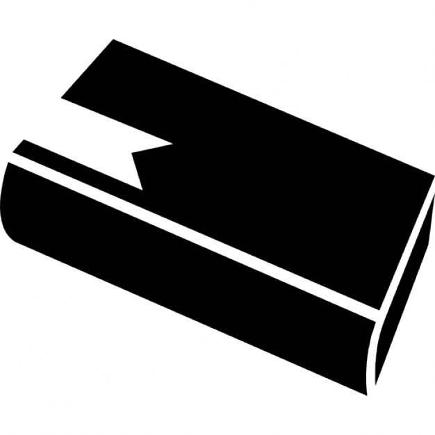 626x626 Book Diagonal View Silhouette With Bookmark Icons Free Download